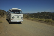 Bus on a Gravel Road