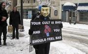Scientology protest