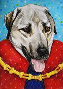Mixed Media Dog Portrait