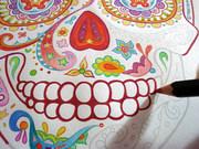 Coloring a Sugar Skull