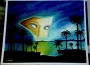 """""""seeking the truth"""" painting"""