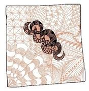 Zentangle inspired art on iPad