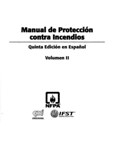MANUAL DE PROTECCIÓN CONTRA INCENDIOS DE LA NFPA 2009