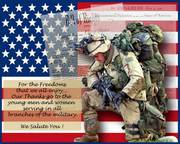 Firefighters / Emergency Responders Supporting Our troops