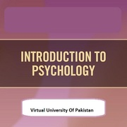 PSY101 - Introduction to Psychology