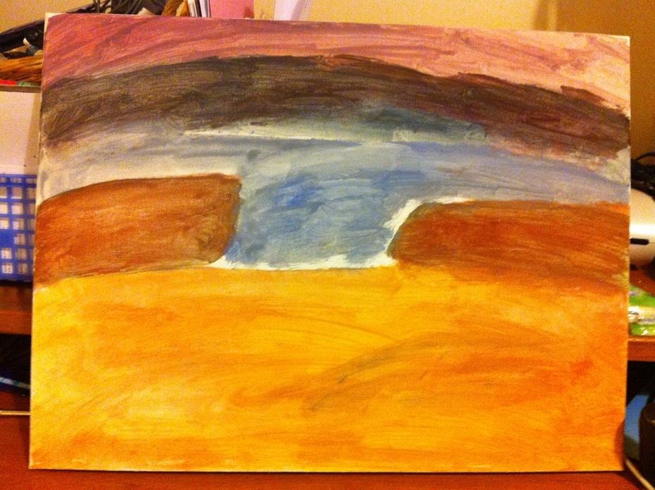 Seascape At Sunset