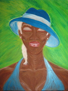 """Lady in Blue Hat"""