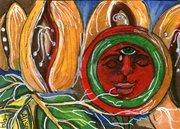 """Sun and Life"" - Frida Kahlo ATC"