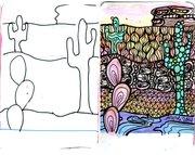 Nature Divination Cards Templates - Desert