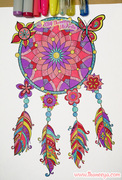 Dreamcatcher Coloring Page by Thaneeya McArdle
