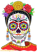 Frida Sugar Skull by Thaneeya McArdle