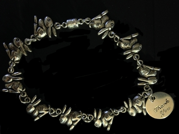 Rabbit Chain Thank You Bracelet