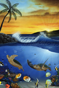 Turtle Paradise 24x36