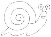 Cartoon Snail Pencil Sketch