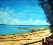 Golden Beach Caloundra - near Bulcock Beach - Oils