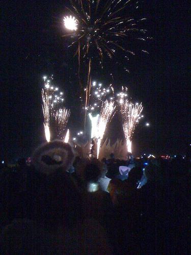 Fireworks at Burning Man