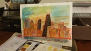 Chicago by watercolor madness
