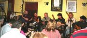Dusty Banjos Recording Their CD At The Crane Bar - 2009