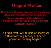 Event Cancelled in Scartaglin