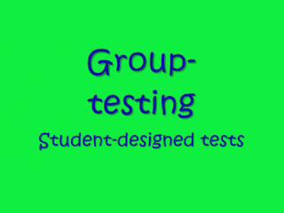 Group Testing