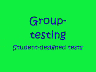 Group Testing
