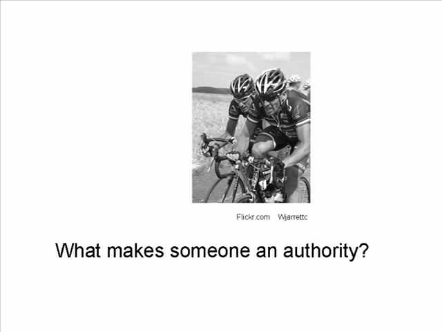 What Makes Someone an Authority