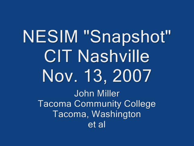NESIM Second Life at CIT '07 Nashville