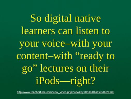 Podcasting for 'Digital Natives'
