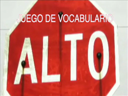 Alto: Spanish vocabulary activity