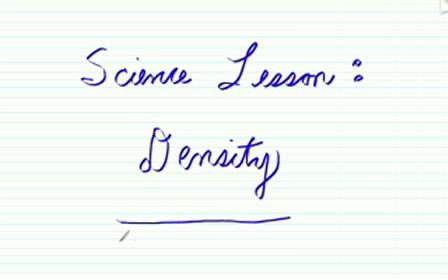 Teaching Density