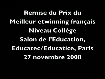 Awards for the best french e.twinning (Poets of the Spring 2008) Educatec/Educatice, Paris, novembe…