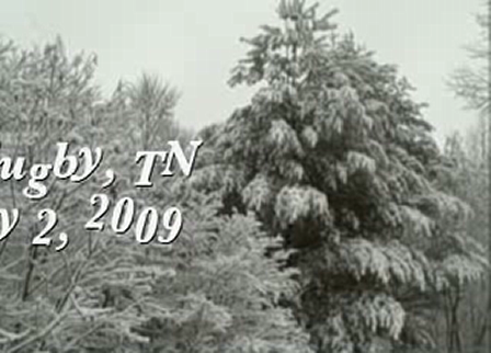 Snow in Rugby, TN - February 2, 2009