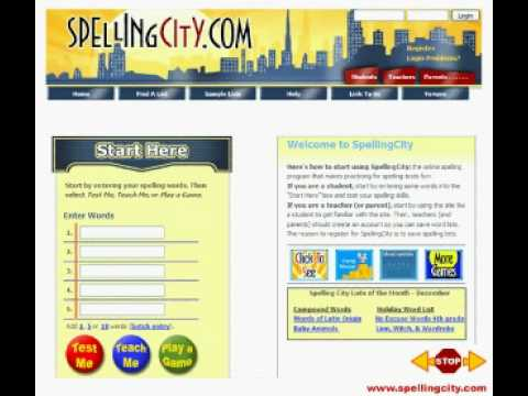 Printable Worksheets on Spelling City