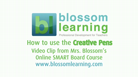 Using the Creative Pen tool on a SMART Board – from Blossom Learning