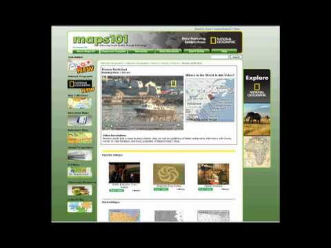 Maps101's National Geographic Content Section