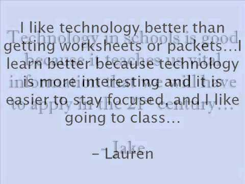 Technology in schools - Justin Tarte