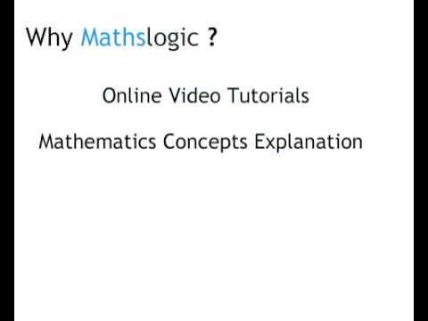 Mathslogic - Learn Mathematics Online