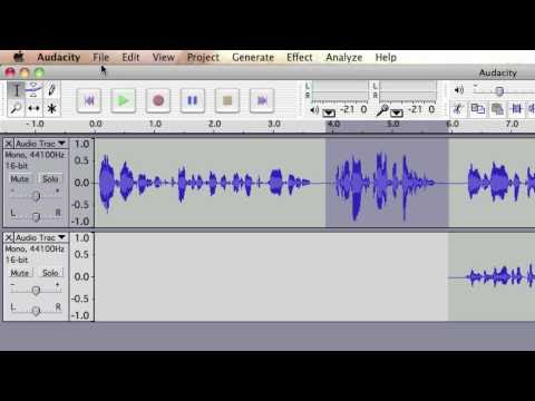 Recording audio in Audacity  - Technical glossary