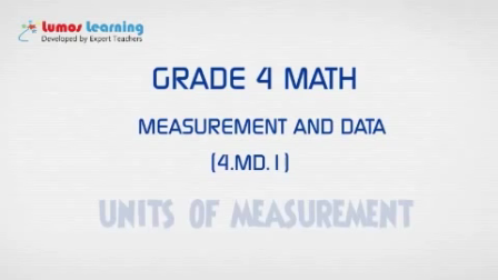 Grade 4 Math - Units of Measurement