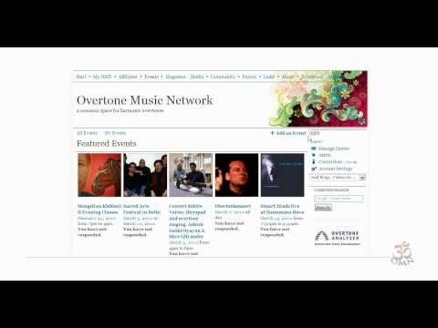 How to add an event on Overtone Music Network ?