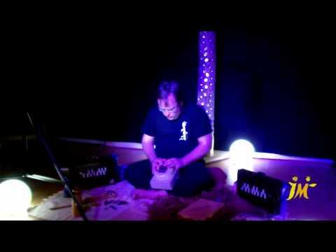 Playing the sansula at Ka-idu Events