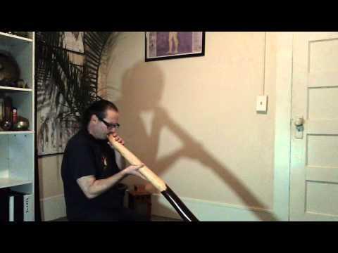 New pine didgeridoo demo F to F# drone 1st. toot is F