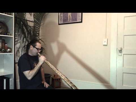 New didgeridoo Yucca cactus stalk.   E to F drone 1st toot in G