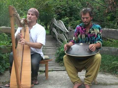Hang drum  with celtic  harp