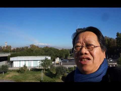 tran quang hai sings the ode to joy in one breath with overtones in CATANIA, ETNA volcano, 10 12 13