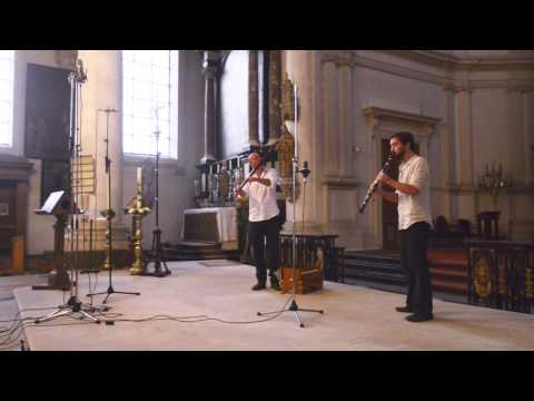 Overtone flute and Clarinet improvisation -Winne Clement and Zeger Vandenbussche