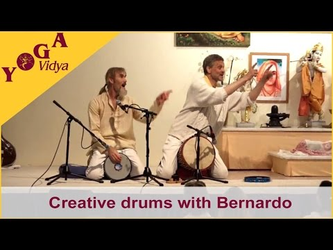 Creative drums and Om Gam Ganapataye Namah with Bernardo and Marc