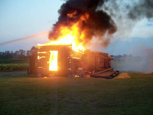 TOBACO BARN FIRE 1