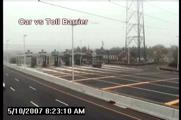 Car vs Toll Barrier
