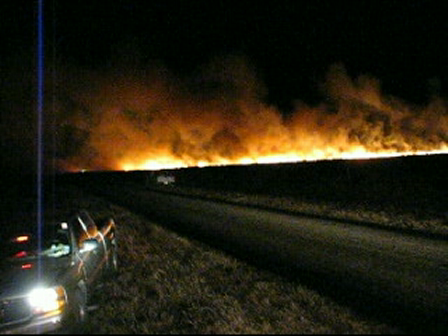 New Years Eve Grass Fire